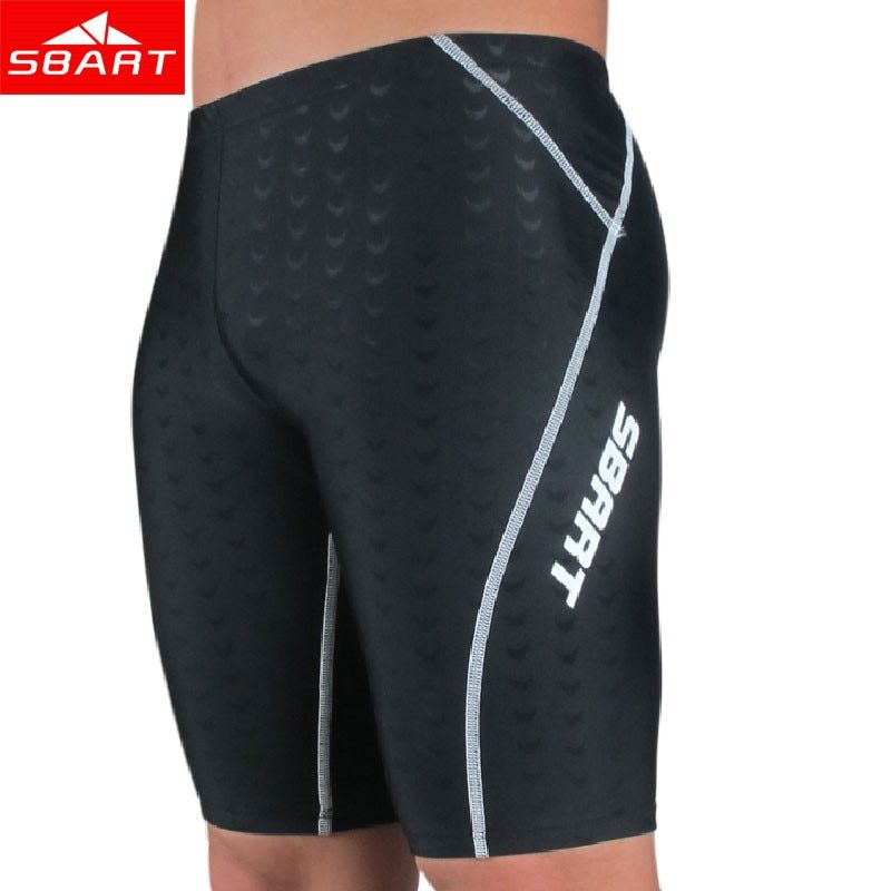 SBART Men's Competitive Swim Trunks Swimsuit Professional Man Shark Skin Swimming Briefs Breathable Swimwear Board Shorts 4XL N