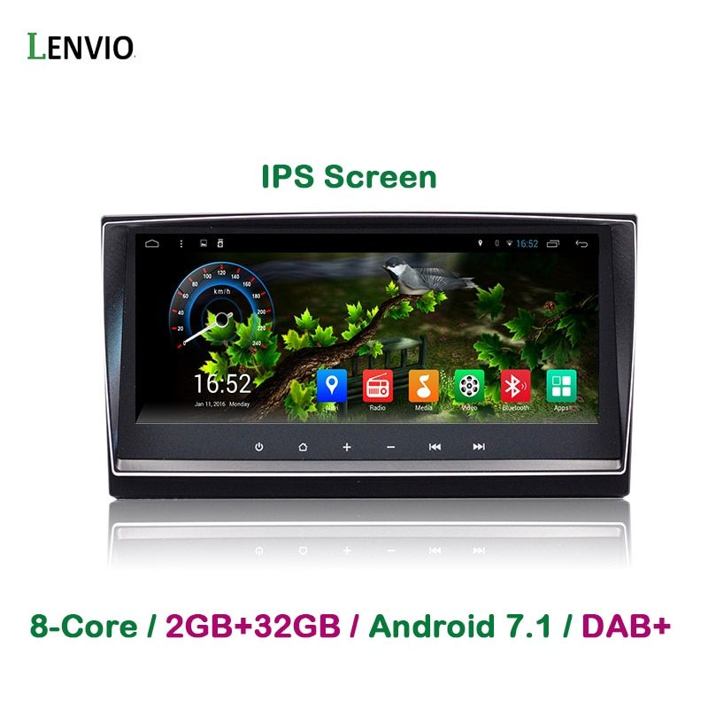 Lenvio IPS RAM 2GB+32GB Octa Core Android 7.1 CAR DVD GPS Navigation Player For Toyota Avensis 2009 2010 2011 2012 2013 Radio BT