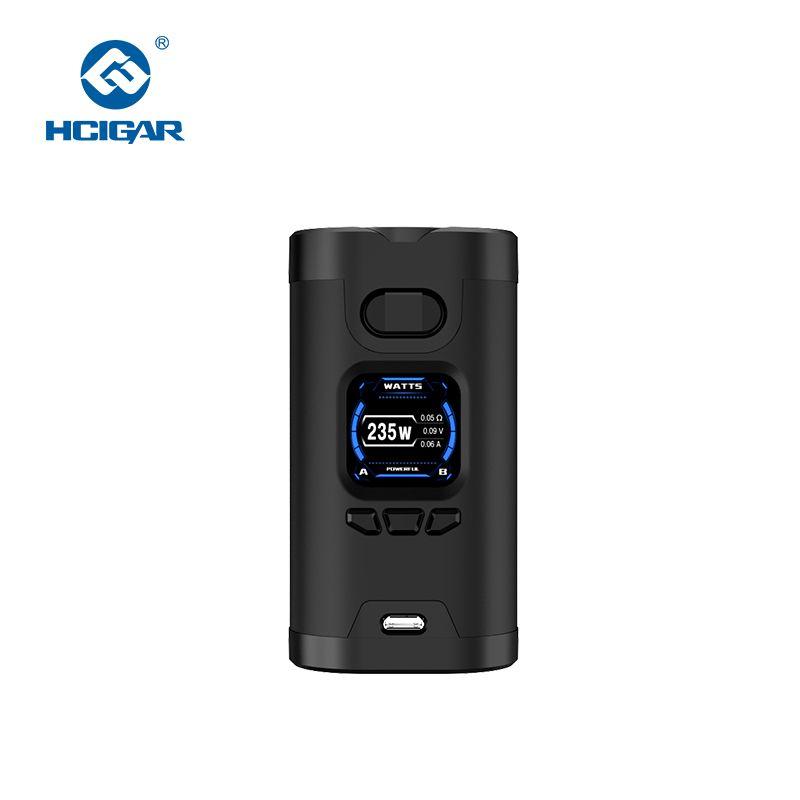 Hcigar Wildwolf 235W Vape Mods Powered By Dual 18650 Towis XT235 Chip TFT Screen Vaporizer Electronic Cigarette Mods vs Innokin