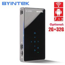 BYINTEK UFO P9 (P8I )Android 7.1 OS Pico Pocket HD Portable Micro WIFI Bluetooth Mini LED DLP Projector with Battery