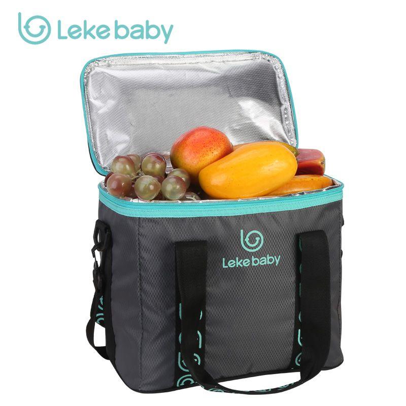 LEKE Ice bag 10L large Volume Ice pack Insulated thermal bag Thermal food bags Aluminum foil Cooler Bag beer cooler cool box