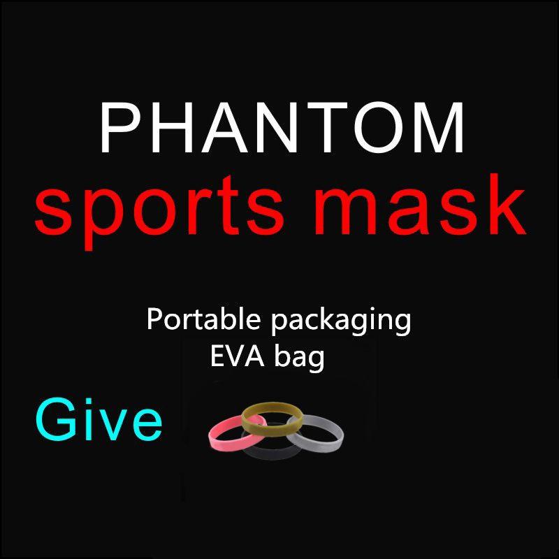 Drop Shipping Vente Chaude Bonne Qualité Hommes Femmes Phantom Portable Emballage Style Sport En Plein Air Masque Avec EVA Sac Et Masque