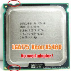 Процессор Intel Xeon X5460 3,16 ГГц 12 МБ 1333 МГц работает на материнской плате LGA 775