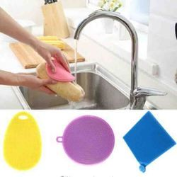 1 Pcs Magique Silicone Plat Bol De Nettoyage Brosses À Récurer Pad Pot Pan Lavage Brosses Cleaner Accessoires de Cuisine Vaisselle Brosse