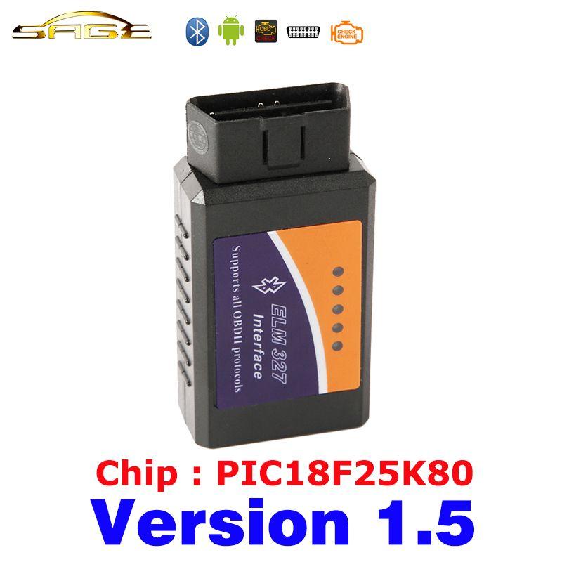 Viecar V1.5 ELM 327 Bluetooth ELM327 OBDII / OBD2 Version 1.5 Vehicle Diagnostic Scanner Tool Reader Works On Android