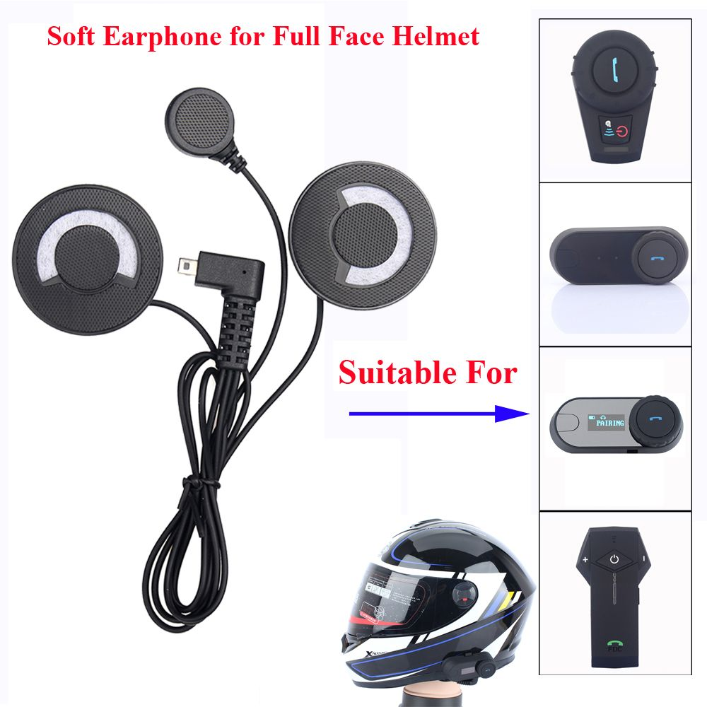 Freedconn Motorcycle Intercom Accessories Soft Earphone Earpiece Mic for FDC-01VB T-COMVB TCOM-SC COLO TCOM-02 Full Face Helmet