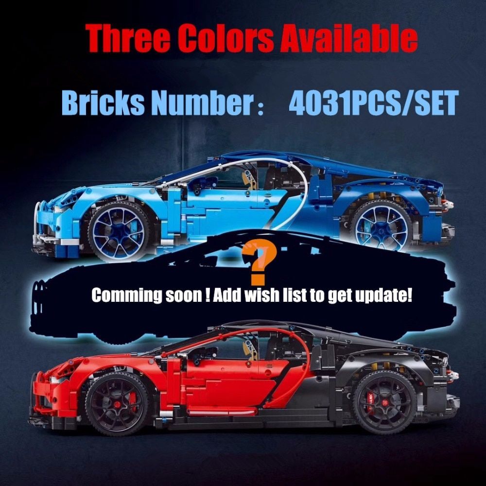New Technic Car series fit legoings Technic bugattied Racing car Chiron Building Blocks Bricks 42083 diy Toy gift kid
