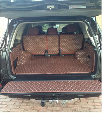 High quality! Special trunk mats for Lexus LX 570 5 seats 2018-2010 durable boot carpets cargo liner mat for LX570,Free shipping