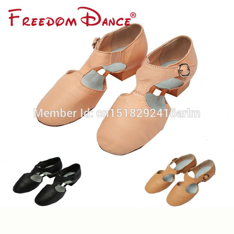 2018 <font><b>Best</b></font> Selling Pig Leather Teachers Dancing Sandal Jazz Dance Shoes For Girls And Women Sport Sneakers Free Shipping