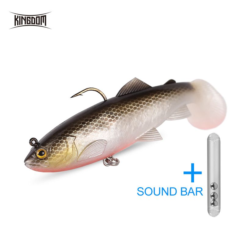 Kingdom Silicone Bait Soft Baits Wobblers 120mm 38g Sinking Action PVC Material Fishing Lure Artificial Bait Pike Lure