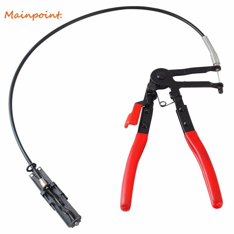 Auto Vehicle Tools Cable Type Flexible Wire Long Reach Hose Clamp Pliers for Car Repairs Hose Clamp Removal Hand Tools Alicate