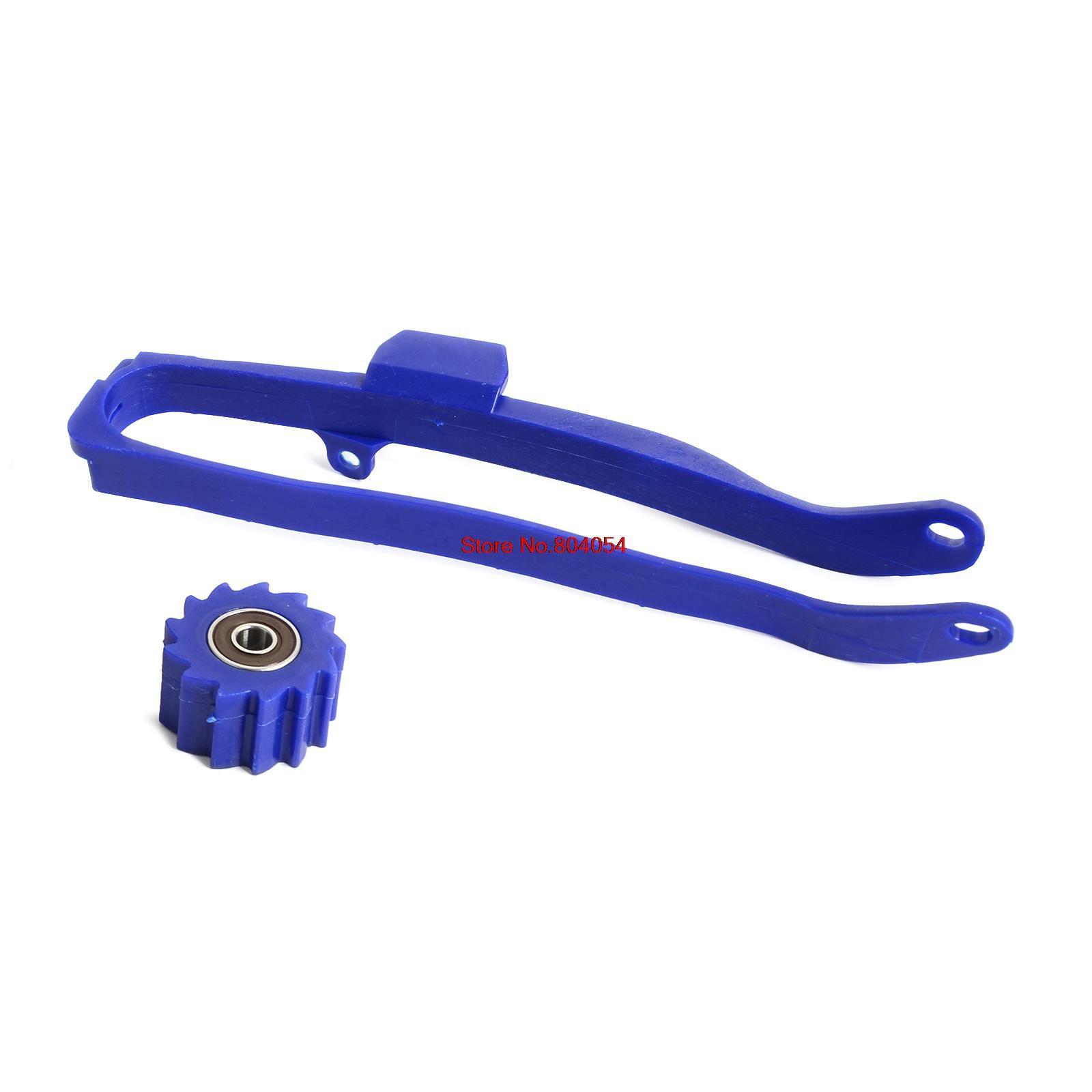 Blue Chain Slider Swingarm Guide Lower Roller For Yamaha YZ250F YZ450F 09-16 YZ250FX 15-16 WR250F 15-16 YZ450FX WR450F 16-17