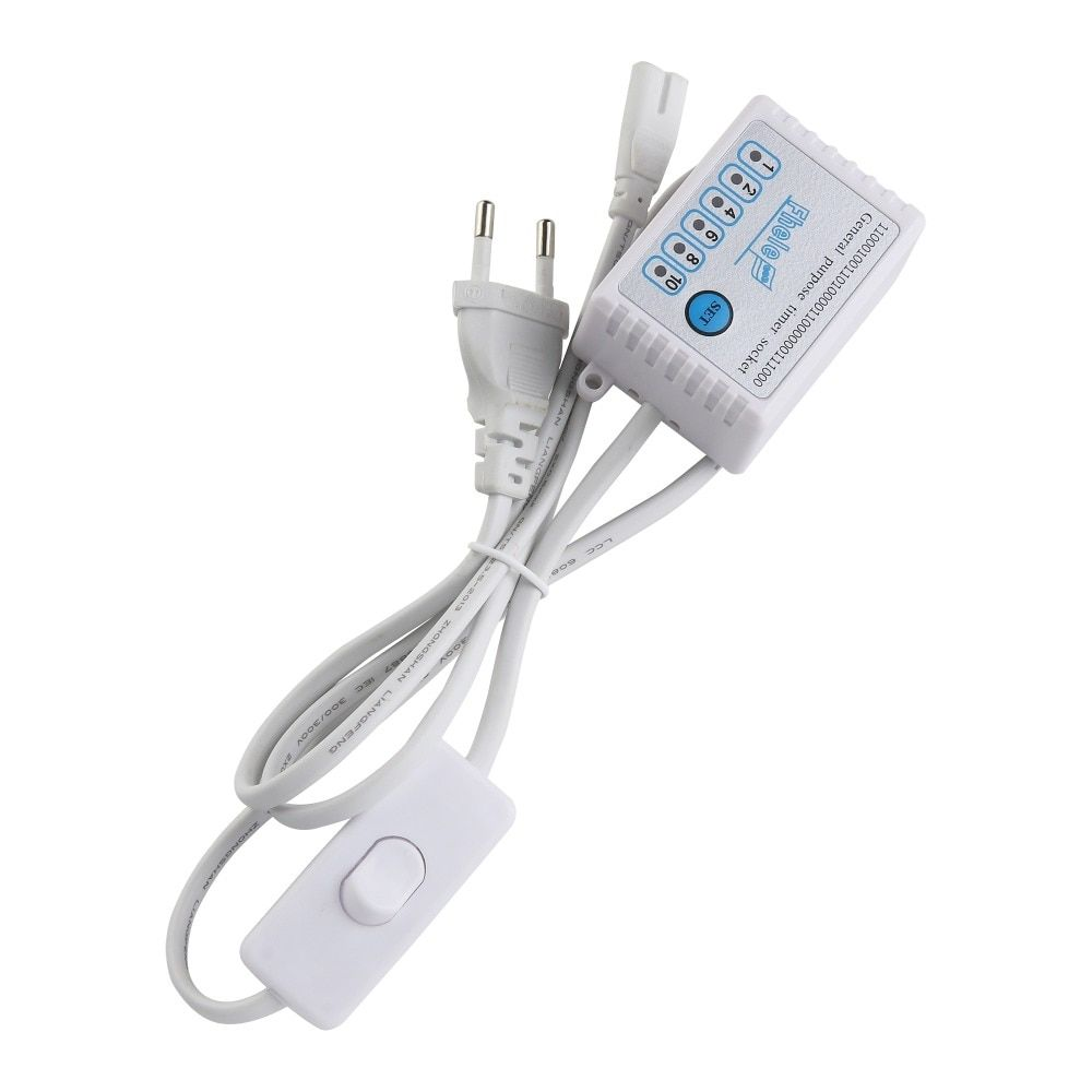Rayway 1.2 m Enchufe europeo cable con interruptor y temporizador entrada 180 V-245 V para LED grow light