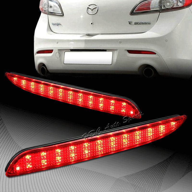 CYAN sol BAY 2010-2013 pour Mazda 3 MAZDASPEED3 Axela Sport rouge LED pare-chocs arrière réflecteur feux de freinage