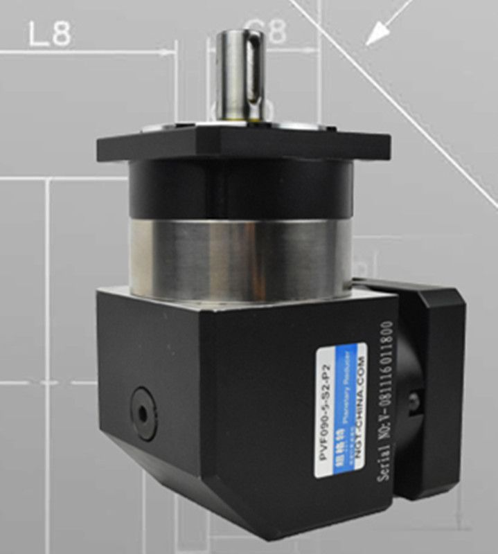 PVF90-L2 90mm 90 degree right angle planetary gearbox reducer Ratio 12:1 to 100:1 for 750w 80 AC servo motor