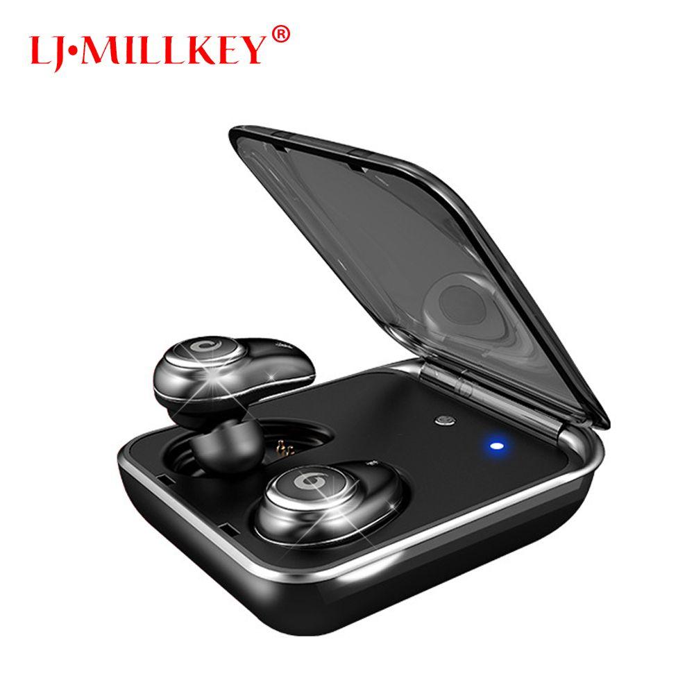 Newest Twins True Wireless Earbuds Mini Bluetooth In-Ear Stereo TWS Wireless Earphones With Charging Case LJ-MILLKEY YZ148