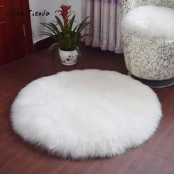 Soft Sheepskin Rug Chair Cover Artificial Wool Warm Hairy Carpet Bedroom Mat Seat Pad Skin Fur Area Rugs Warm Artificial Textile