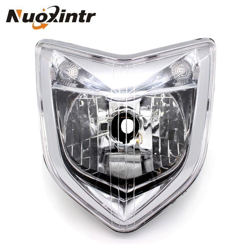 Nuoxintr Motorcycle Headlight Headlamp Front ABS Head Light For Yamaha FZ1 Fazer 2006 2007 2008 2009