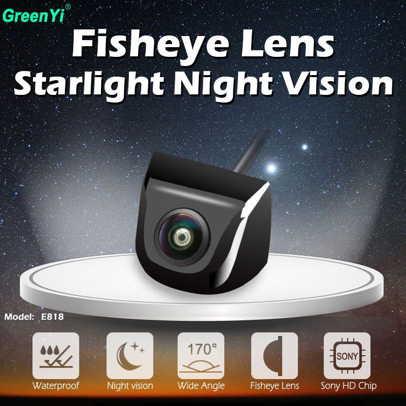 170 degrés HD Starlight Vision nocturne objectif Fisheye Sony/MCCD puce voiture sauvegarde arrière caméra de recul CCTV caméra de stationnement