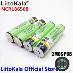 2017 Original LiitoKala 18650 3400mAh battery 3.7V Li-ion Rechargebale battery PCB Protected For  NCR18650B 18650 3400