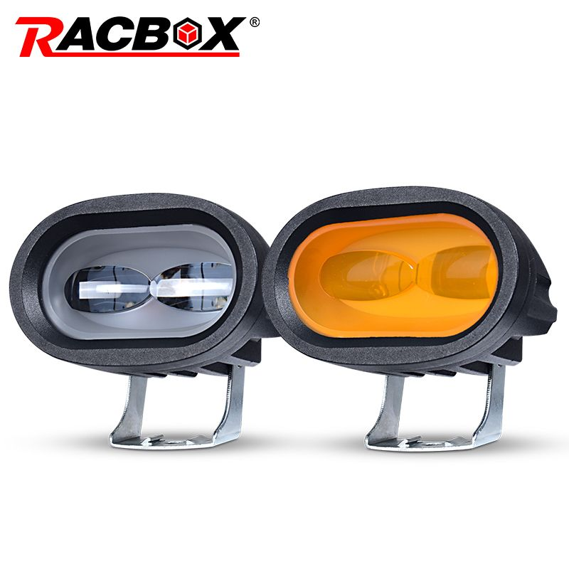 RACBOX 6D 20W LED Work Light Bar Car Driving Fog Spot Light Offroad LED Work Lamp Vehicle Truck SUV ATV Led Car Retrofit Styling