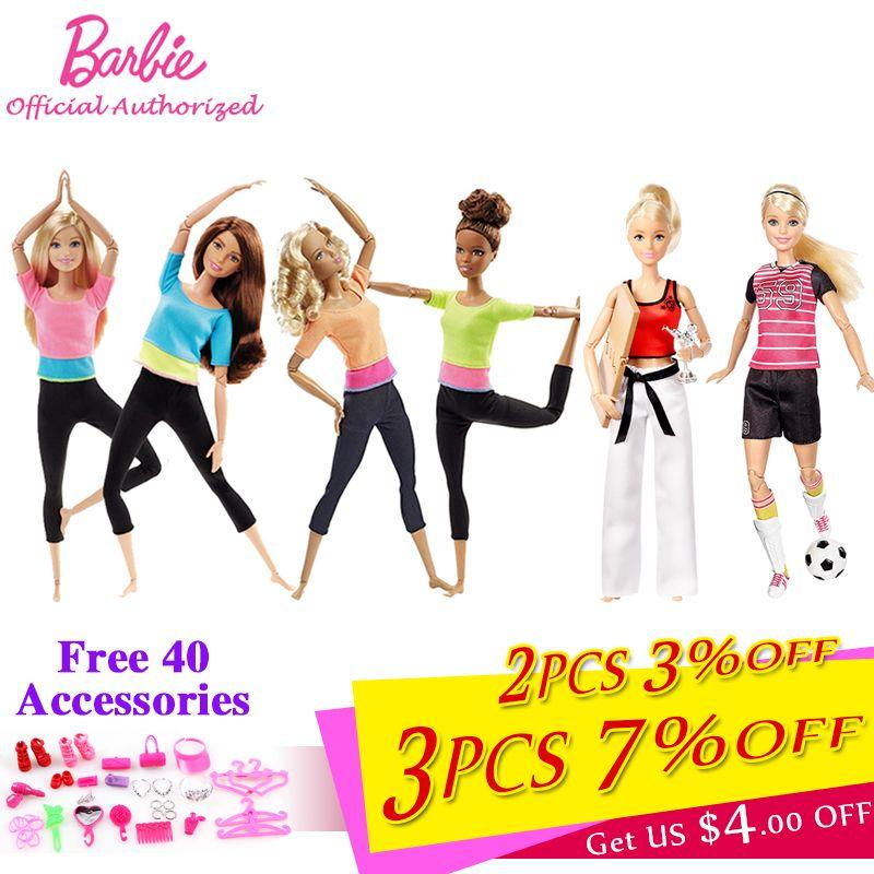 Barbie autoriser marque 7 Style mode poupées Yoga modèle jouet pour petite fille cadeau d'anniversaire Barbie fille Boneca modèle DHL81
