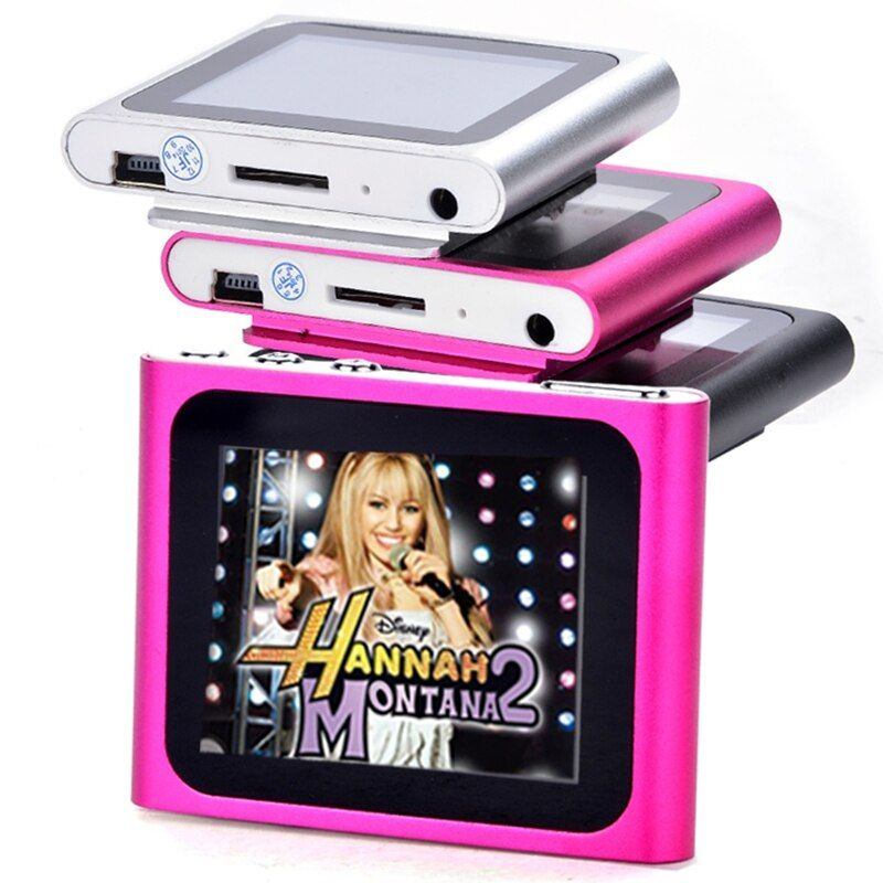In Stock 6th Gen 1.8 inch LCD Screen MP3 MP4 Player FM Radio Games Video Movie Player+Earphone+ USB Cable Free Shipping