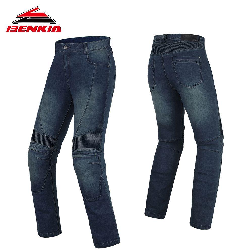 BENKIA Motorcycle Pants Men Women Windproof Racing Denim Pants Protective Riding Jeans Unisex Pantalon Motorbiker Trousers PC54