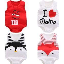 D'été de bébé garçons vêtements de Bande Dessinée nouveau-né Bébé barboteuse Coton sans manches bébé filles vêtements pour 0-24 M enfants bébé vêtements