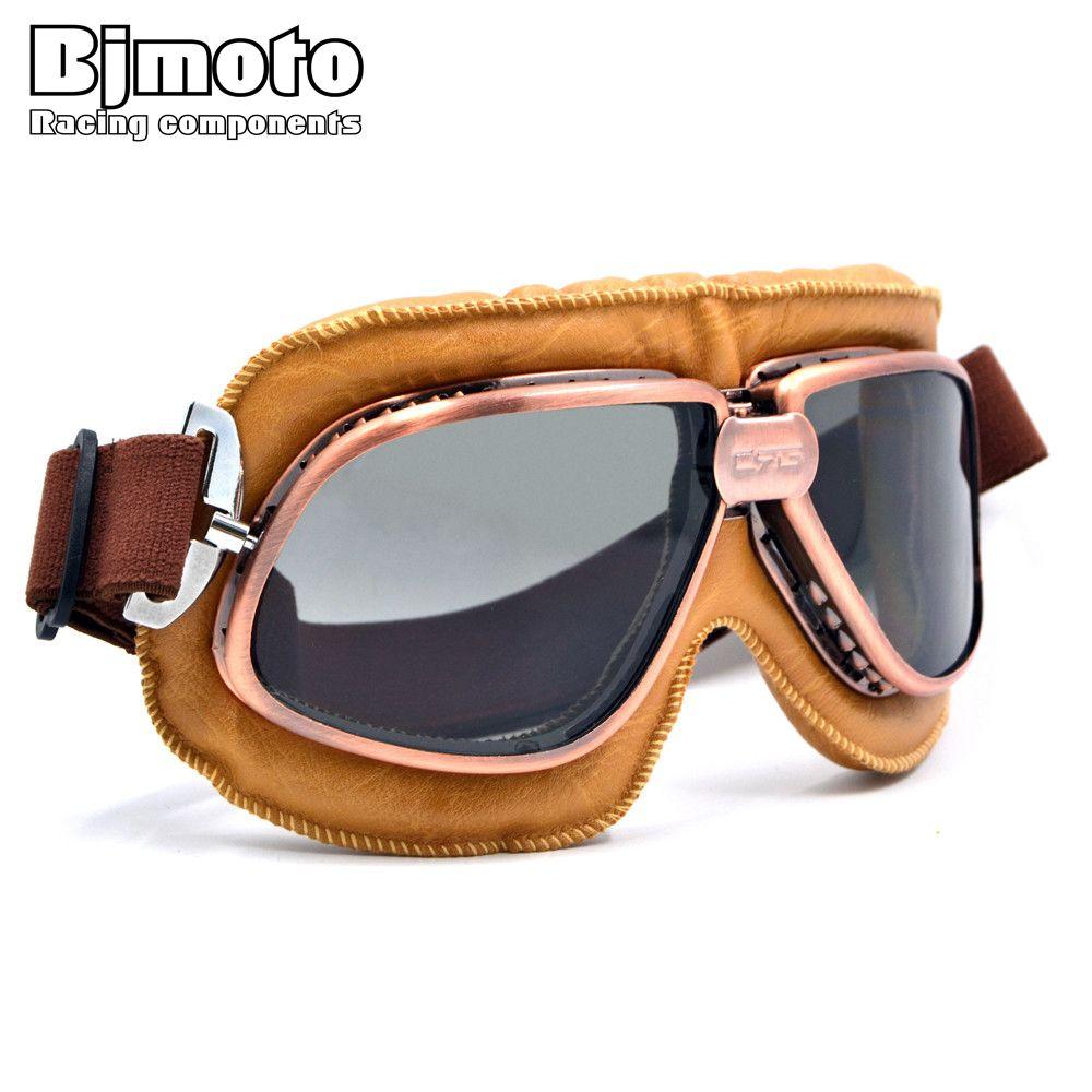 5 Colors Copper Plated Frame Vintage Harley Goggles Glasses For Open Face Helmet Retro Motorcycle Half Helmet Eyewear