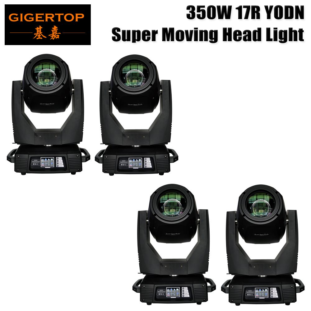China Led Stage Light TP-17R 4 Pack Stage Effect 17R YODN Beam Spot Wash 3 in 1 350W Moving Head Light Base with Clamp Hook