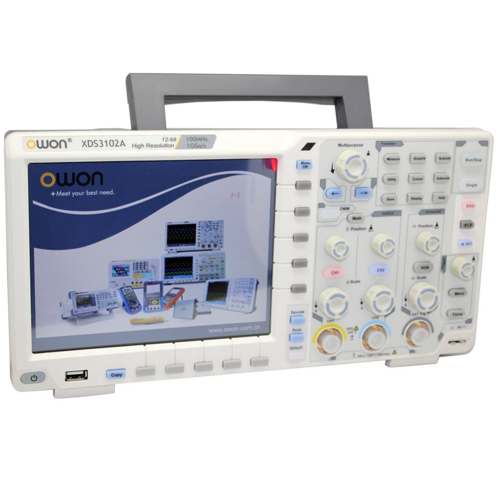OWON XDS3102A 100 M 1G12bOscilloscope datenlogger rmultimeter wellenform generator XDS3102A Optional