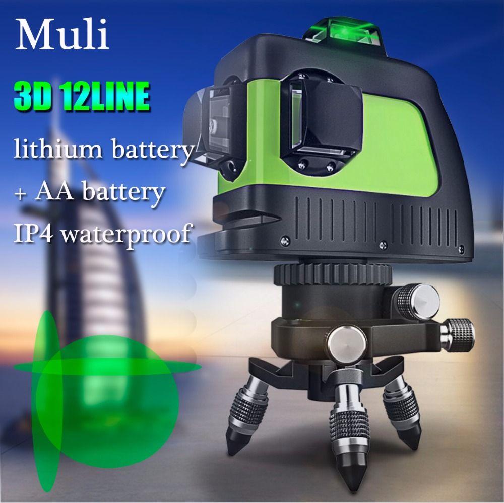 Muli laser de Auto-nivelamento A Laser 3D 12 Linhas Verde 360 Horizontal E Vertical Cruz Super Poderoso Feixe de Laser verde