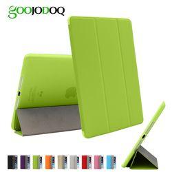 Para iPad aire 2 aire 1 funda con soporte, ultra fino PU cuero + silicona Soft Back caso elegante para el iPad aire/5 6 Auto Sleep