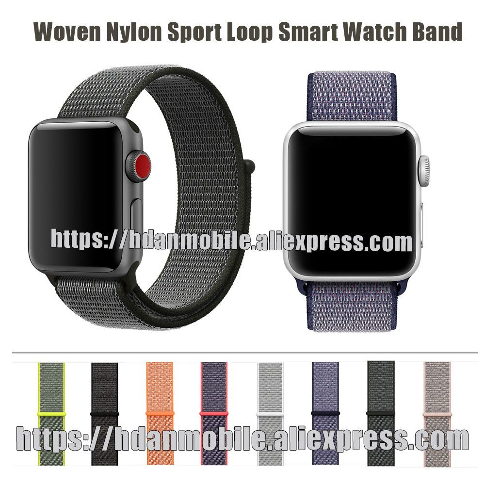Lightweight Breathable Nylon Sport Loop Band for Apple Watch Series 3&2&1  42MM 38MM for Apple Watch Band Sport Loop