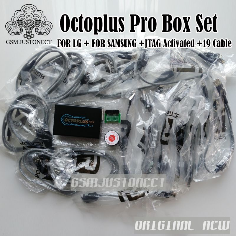 Newest Version octoplus Pro Box + eMMC / JTAG Activated AND 19 Cable Set For Samsung LG ........