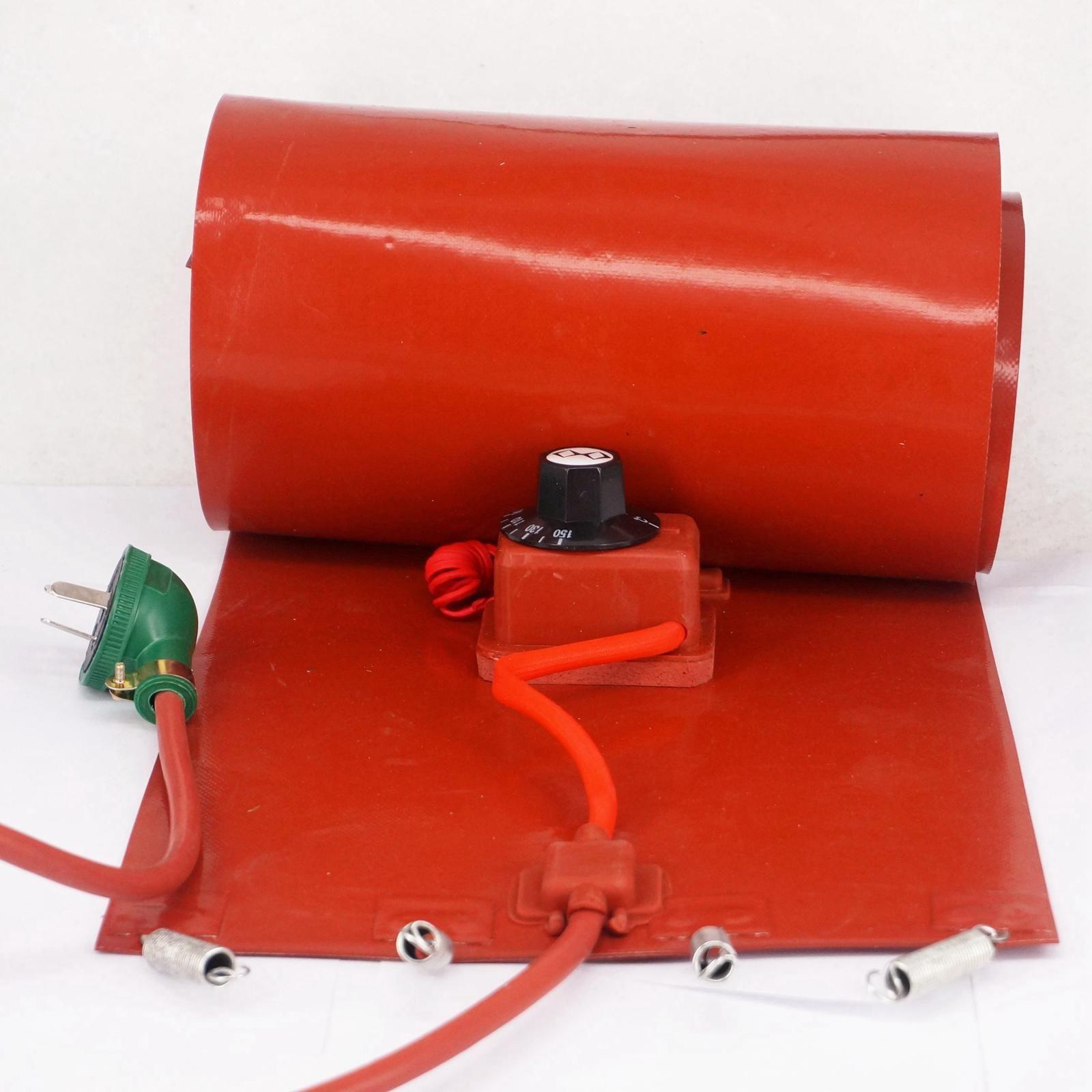 200 L (55 Gallons) 250x1740x1.6mm 3000 W Flexible De Silicium Bande Tambour Chauffe-Couverture Biodiesel d'huile de Baril Électrique Fils