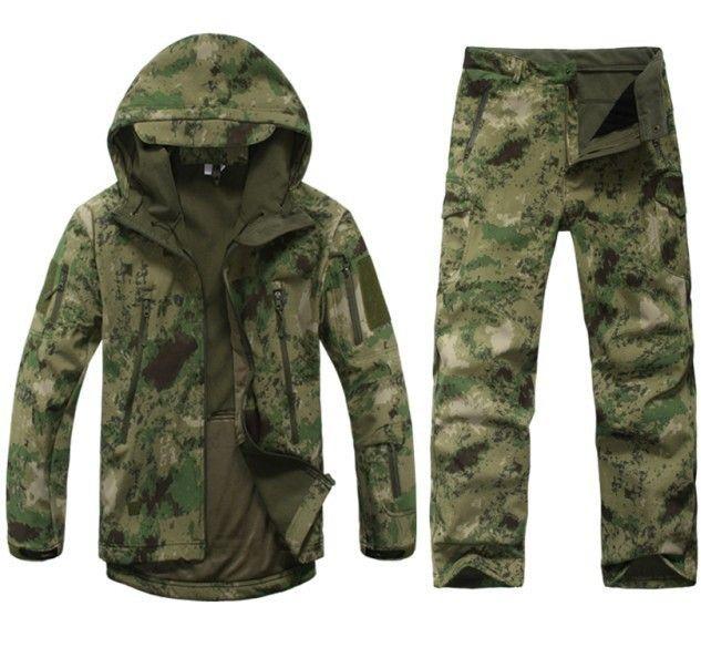 Hommes En Plein Air Vestes Imperméables V 5.0 XS Softshell tenue de chasse thermique vêtements Tactique Camping randonnée respirant Sport Costume