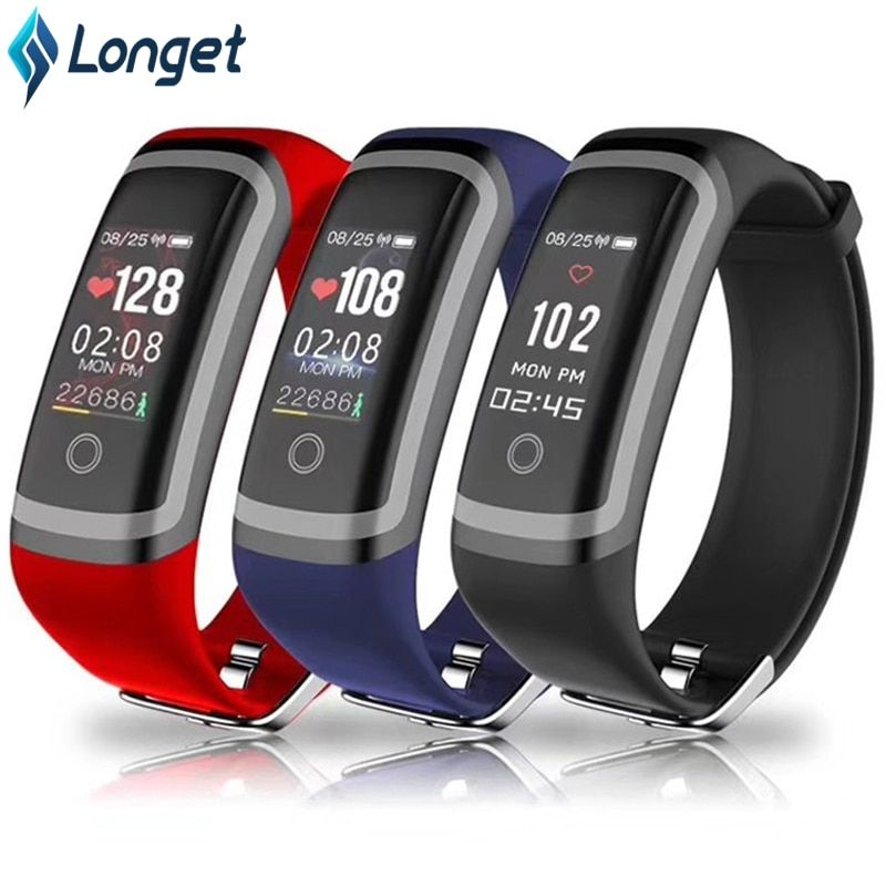Longet Smart Band M4 Blood Pressure Call Reminder Fitness Tracker Waterproof Heart Rate Monitro Sleep Monitor for iOS Android