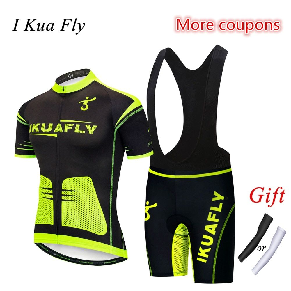 I Kua Fly Men Cycling Clothing Breathable Cycling Jersey Set MTB Bicycle Cycling Set Wear Maillot bike Jersey Maillot Ciclismo 5