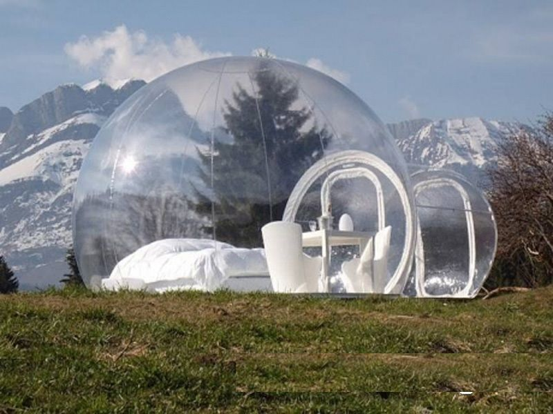 Free shipping inflatable bubble tent with free CE/UL blower and repair kit