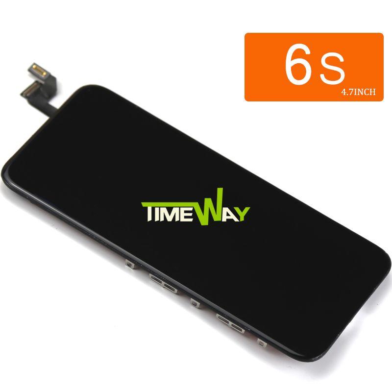 10 pcs Pour Tianma Qualité Pour iphone 6 s LCD Avec Écran Tactile Digitizer Assemblée D'affichage Remplacement Blanc et Noir + caméra Titulaire
