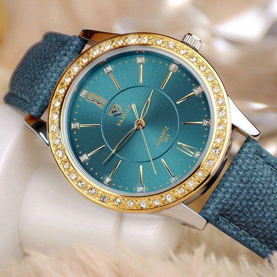 YAZOLE Gold Diamond Quartz Watch Women Ladies Famous Brand Luxury Golden Wrist Watch Female Clock Montre Femme Relogio <font><b>Feminino</b></font>