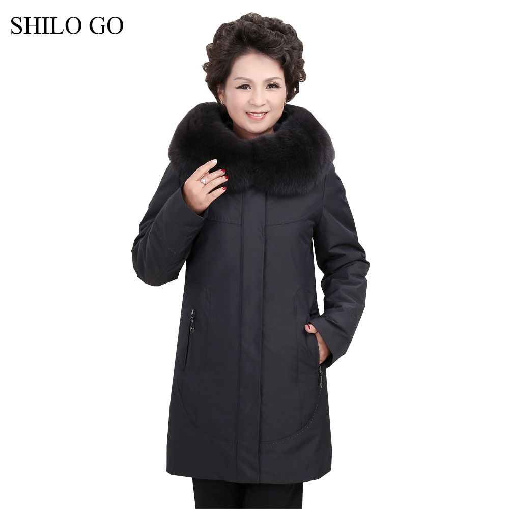 3XL New Womens Winter Wine Red Black Jacket Coats Thick Parkas Plus Size Real Fox Fur Collar Hooded Rabbit Outwear Fur Coat