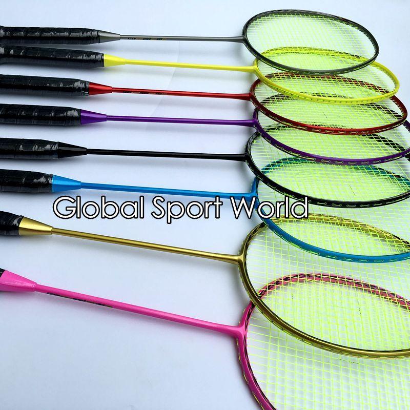 2017 neue ankunft N80 3D klinge (4U 82g) Badminton Schläger 100% carbon bonbonfarben badminton schläger Traning schläger fluoreszenz
