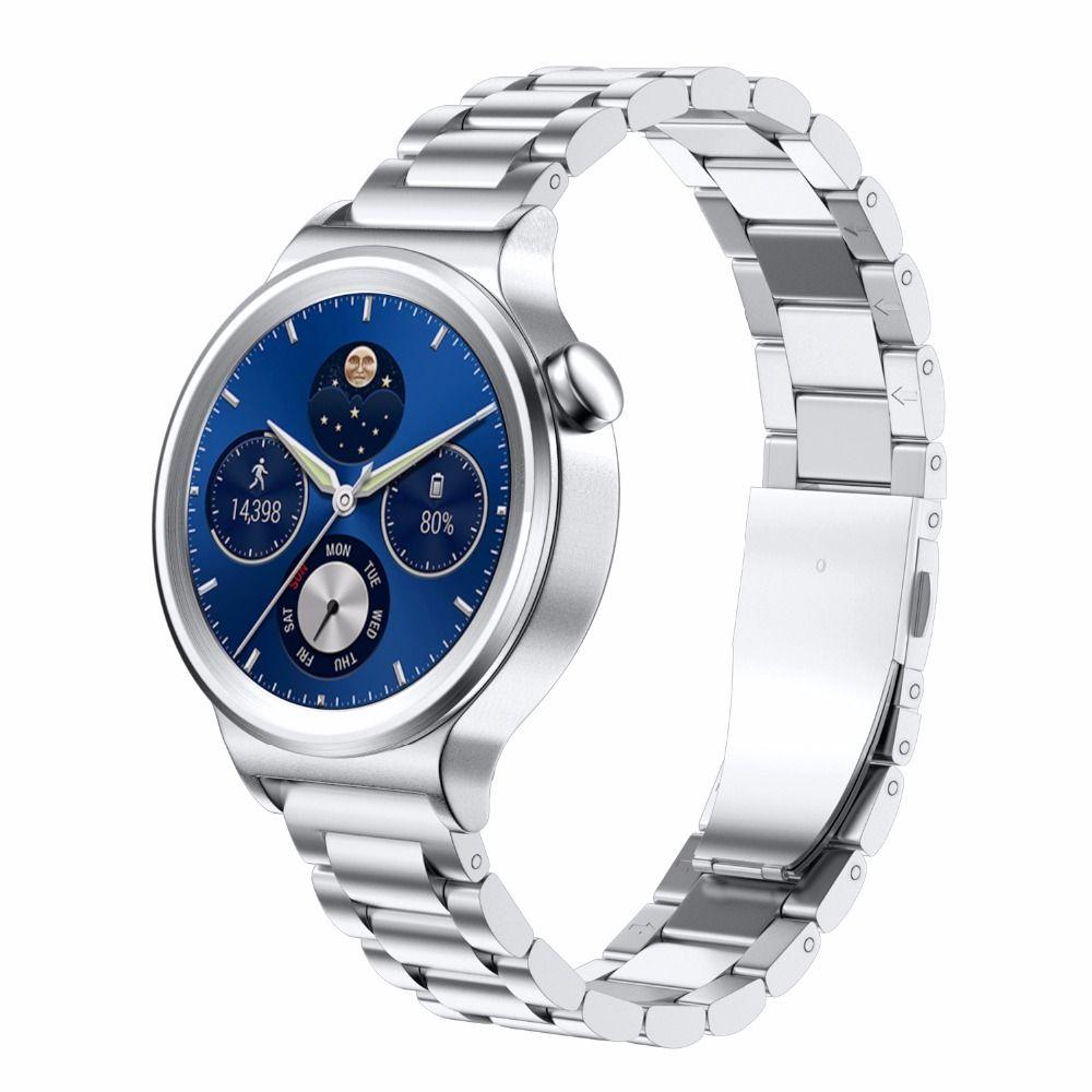 Bracelet de montre intelligent en acier inoxydable de largeur 18mm pour montre Huawei avec boucle en métal bracelet de montre classique pour les personnes