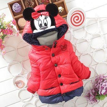 2019 children outerwear baby girls cotton Hooded coats Winter Jacket Kids Coat children's winter clothing Girls Down & Parkas