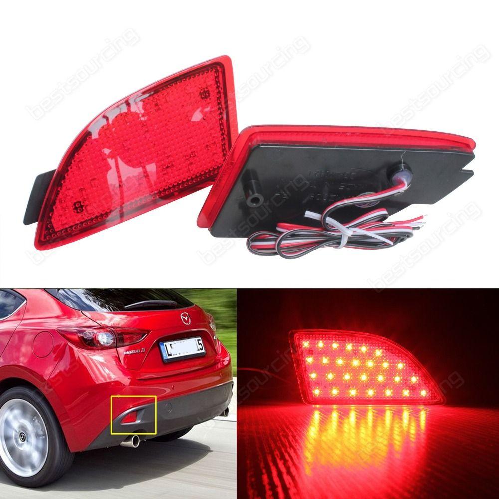 2XMazda3Axela BM LED Rear Bumper Reflector Brake Stop Tail Light Lamps 2013+ Axela BM(CA241)