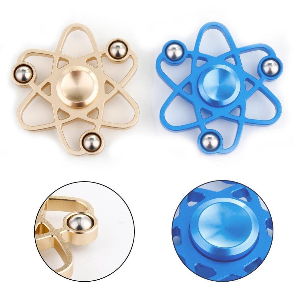 Hand Spinner Planetary Hexagon EDC 68x68mm Aluminum Alloy Fidget Spinner Rotation Noiseless Antistress Finger Spiner for Autism