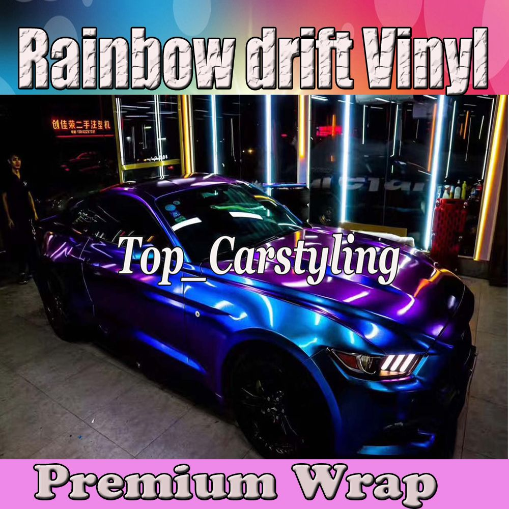 Blau Lila Glanz regenbogen Shift Vinyl Auto wrap styling shift abdeckt Folie Farbe fluss Film Mit Air bubble Kostenlose 1,52x20 m 5x67ft